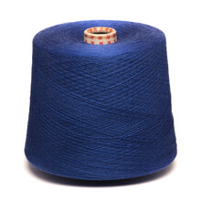 Colored Yarn Threads Blue Isolated