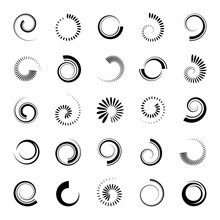 Abstract Spiral Icons. Design Elements Set.