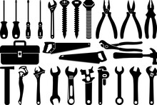 Tools SVG Cut Files   Tool Box Silhouette Bundle   Wrench Svg   Hammer Svg   Screwdriver Svg   Saw Svg