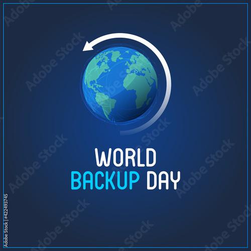 Fototapeta World Backup Day. blue abstract background obraz