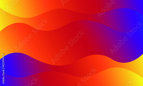Fototapeta gradient background with colorful waves obraz