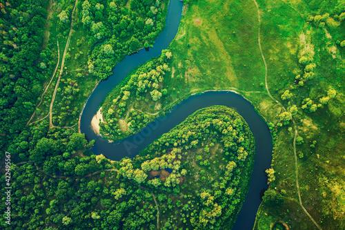 Obraz na plátně River in the meadows