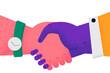 Handshake, deal, business agreement concept