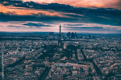 Romantic destination -  Eiffel tower, Paris, France