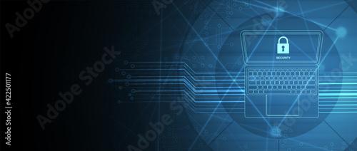 Obraz na plátně internet digital security technology concept for business background