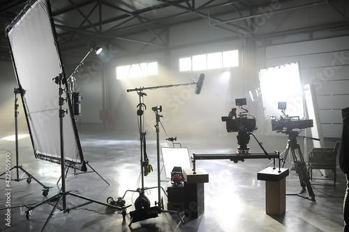 Billede på lærred Profesional video studio