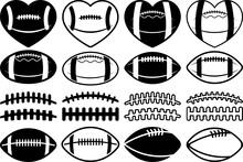 American Football SVG Cut Files | Football Silhouette | Sports Svg | Football Bundle