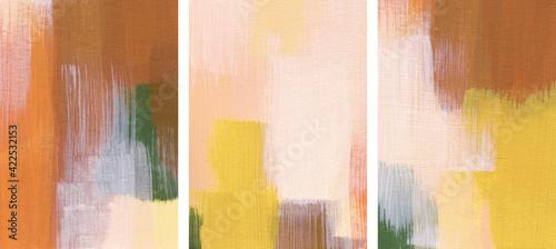 Fotografie, Obraz Three minimalist abstract paintings