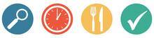 Bunter Banner Mit 4 Buttons: Restaurant Geöffnet - Aber Nur Mit Anmeldung