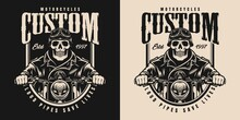 Motorcycle Vintage Monochrome Label