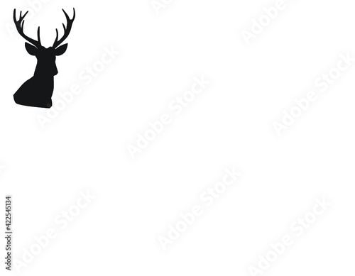 Fototapeta silhouette of a deer obraz