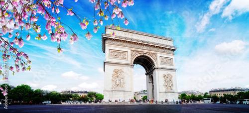 Arc de triomphe, Paris, France Fototapet