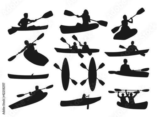 Fotografia Kayak Silhouette, Kayak SVG, Canoe Svg, Canoe Silhouette, Sport Outdoor SVG, Spo