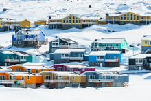 Ilulissat Is A Coastal Town In Western Greenland. It's Known For The Ilulissat Icefjord And For Huge Icebergs.