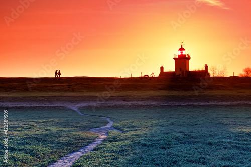 Fototapeta Lighthouse of the Pointe d'Agon nature reserve