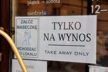 Krakow, A Tourist City, Empty Cafes And Restaurants, Closed Places, Lockdown,
