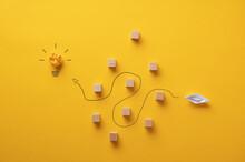 Conceptual Image Of Visiona, Determination And Idea