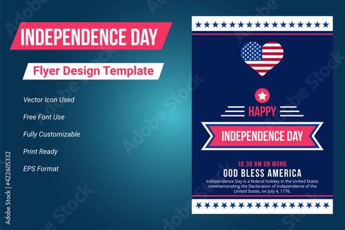 Obraz na plátně United states of america independence day