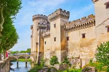 Exterior Of The Tarascon Castle, France