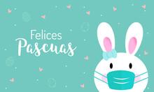 Felices Pascuas En Español. Banner Con Espacio Para Texto