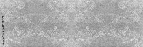 Fotografie, Obraz Seamless abstract mosaic grey gray white concrete stone cement wall texture, wit