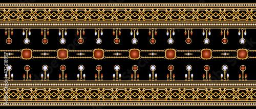 Obraz na plátně old antique pattern.Grunge oriental card and cover.