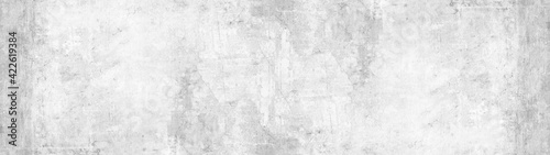 Fototapeta Gray grey white stone concrete texture background panorama banner long obraz