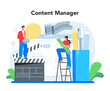 Content management concept. Idea of digital strategy and content