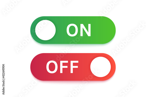 Papel de parede Turn on and turn off buttons in green and red colors