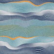 Seamless Natural Landscape Hill Pattern For Print. Horizontal Line Stripes That Resemble Hills Or Mountains In A Natural Landscape Or Geological Earth View. Abstract Surface Design.