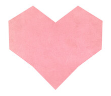 Heart With Pink Paper Texture