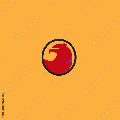 Tablou Canvas Isolated vector black eagle logo