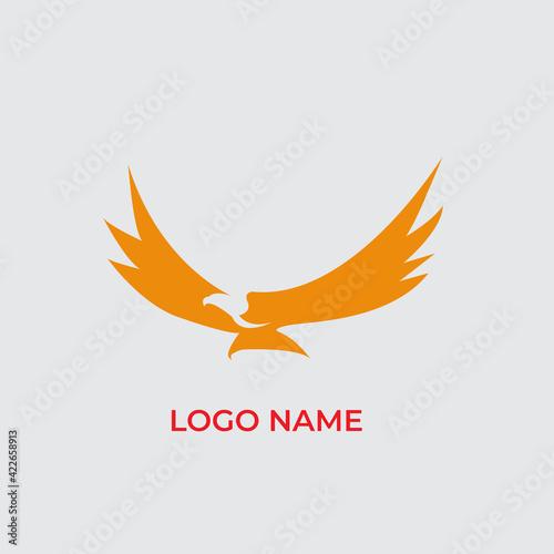 Fotografie, Tablou Isolated vector black eagle logo