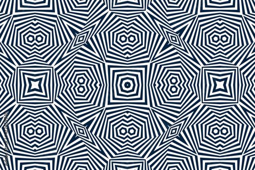 Fototapeta premium Psychedelic optical illusion. Hypnotic surreal abstract background. Vector illustration.