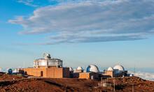 Haleakala Observatory At Sunrise, Maui, Hawaii