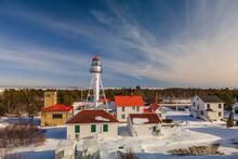 Whitefish Point Light House In Michigan Upper Peninsula