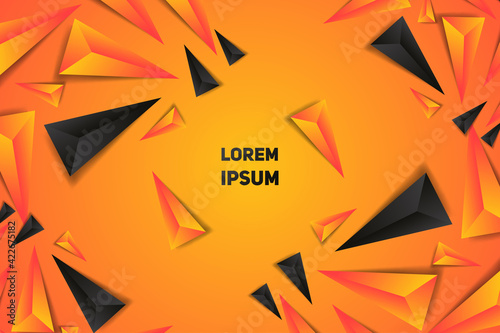 Obraz na plátně Abstract Polygon Vector Background