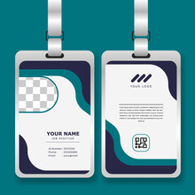 Professional Corporate Id Card Template With Mockup
