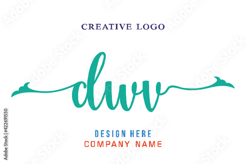 Fototapeta DWV lettering logo is simple, easy to understand and authoritative obraz