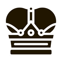 Royal Crown Icon Vector Glyph Illustration