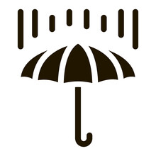 Rain Umbrella Icon Vector Glyph Illustration
