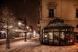 Fototapeta Londyn - Zimowa świąteczna ulica