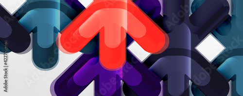 Fotografia, Obraz Abstract glossy crosses background for business or technology presentations, int