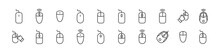 Line Stroke Set Of Computer Mouse Icons.