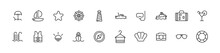 Pack Of Line Cruise Icons.