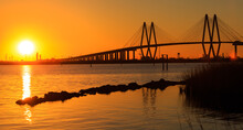 This Beautifully Designed Bridge Connects La Porte Texas To Baytown Texas With It's Strength And Grace.