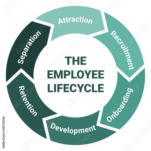 Fotografie, Obraz The employee lifecycle management scheme