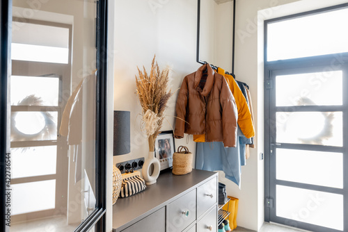 House hallway interior with clothes and furniture Fototapet