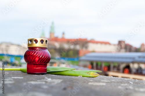 Fototapeta Relacja w uroczystości pogrzebowych pary prezydenckiej, 18.04.2010 r, Kraków, Polska obraz