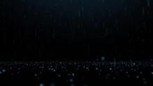 Illustration Of Abstract Night Rain